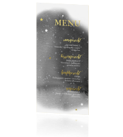 goudfolie menukaart trend moon and stars