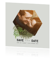 Save the date met foto en vintage varens