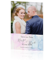 Stijlvolle Pastel save the date