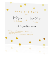 Confetti save the date