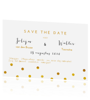 trendy save the date confetti