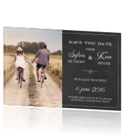 Vintage save the date met kalkbord typografie