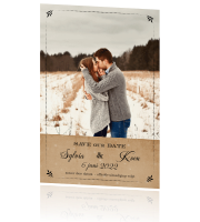 Klassiek kerst chalkboard kerst save the date