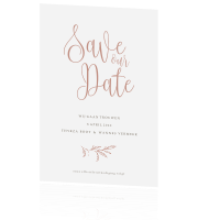 Save the Date klassiek takje Blush