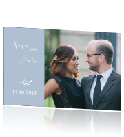 Klassiek save the date met vintage takken