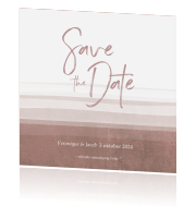Save the date ombre strepen roze