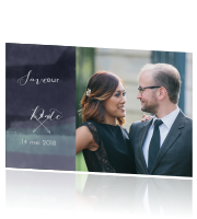 Stoere save the date met aquarel achtergrond
