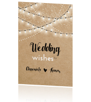 Wedding wishes met kraft en slingers