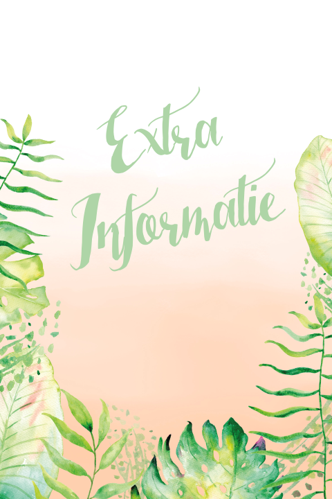 Extra Informatie Watercolor Dip en Dye Oerwoud