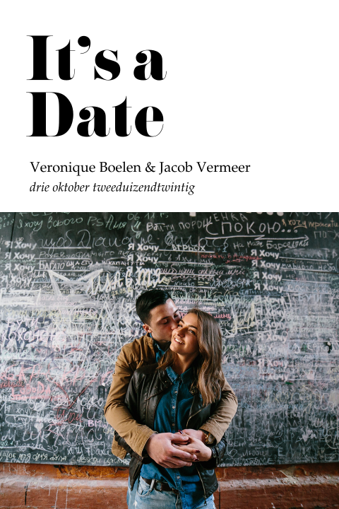 Strakke moderne save the date