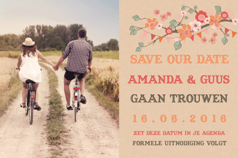 Foto save the date met een festival thema