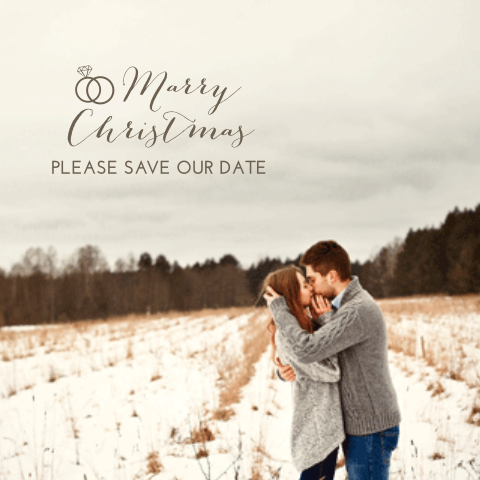 Foto kerst save the date