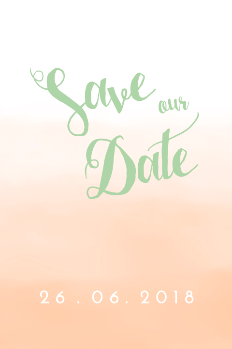 Watercolor tropische save the date
