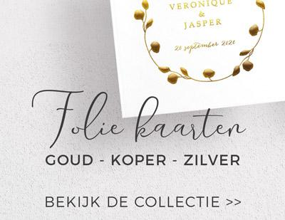 Goudfolie Trouwkaarten en Save the Dates