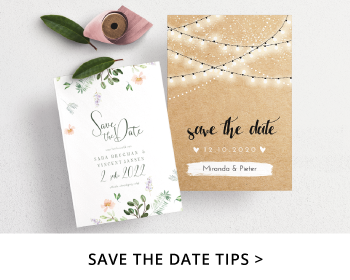 Inspiratie Save the Dates Tips