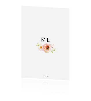 Moderne trendy save the date met foto en aquarel bloemen