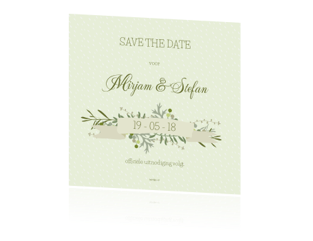 save-the-date-kaart-groen-vintage-banner-foto