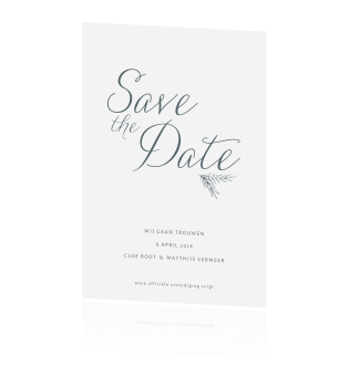 Clean takje save the date