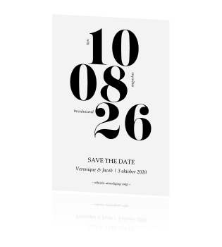 Save the date met strakke lettertypes